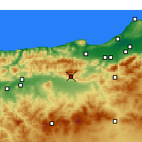 Nearby Forecast Locations - Miliana - Χάρτης