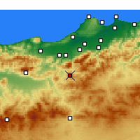 Nearby Forecast Locations - Médéa - Χάρτης