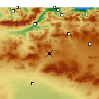 Nearby Forecast Locations - Bordj Bou Arréridj - Χάρτης