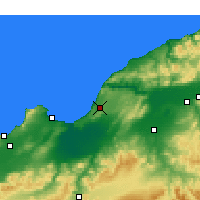 Nearby Forecast Locations - Mostaganem - Χάρτης
