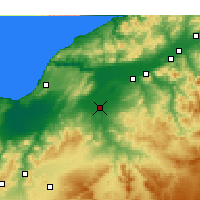 Nearby Forecast Locations - Relizane - Χάρτης