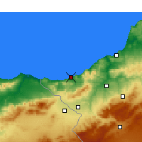 Nearby Forecast Locations - Ghazaouet - Χάρτης