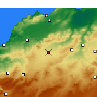 Nearby Forecast Locations - Sidi Bel Abbès - Χάρτης