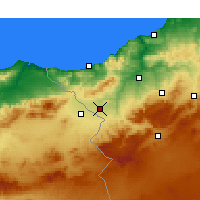 Nearby Forecast Locations - Maghnia - Χάρτης