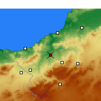 Nearby Forecast Locations - Tlemcen - Χάρτης
