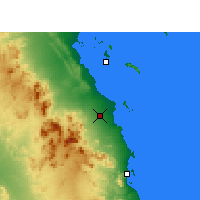 Nearby Forecast Locations - Hurghada - Χάρτης