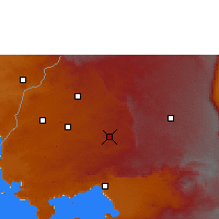 Nearby Forecast Locations - Kakamega - Χάρτης