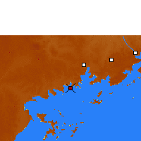 Nearby Forecast Locations - Entebbe - Χάρτης