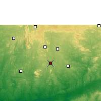 Nearby Forecast Locations - Akure - Χάρτης