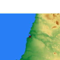 Nearby Forecast Locations - Namibe - Χάρτης