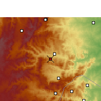 Nearby Forecast Locations - Nelspruit - Χάρτης