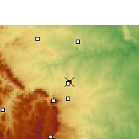 Nearby Forecast Locations - Hoedspruit - Χάρτης