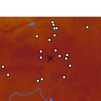 Nearby Forecast Locations - Germiston - Χάρτης