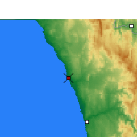 Nearby Forecast Locations - Port Nolloth - Χάρτης