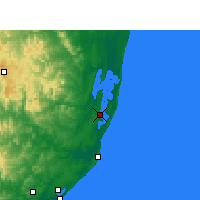 Nearby Forecast Locations - Charters Creek - Χάρτης