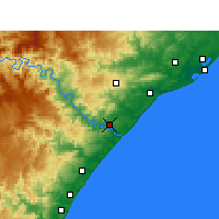 Nearby Forecast Locations - Mandeni - Χάρτης