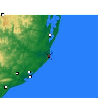 Nearby Forecast Locations - Cap Lucia - Χάρτης