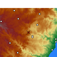 Nearby Forecast Locations - Cedara - Χάρτης