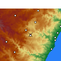Nearby Forecast Locations - Pietermaritzburg - Χάρτης