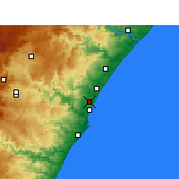Nearby Forecast Locations - Mount Edgecombe - Χάρτης