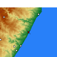 Nearby Forecast Locations - Sezela - Χάρτης
