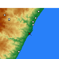 Nearby Forecast Locations - Ντέρμπαν - Χάρτης