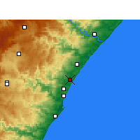 Nearby Forecast Locations - Tongaat - Χάρτης
