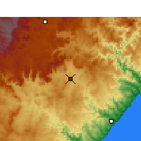 Nearby Forecast Locations - Mthatha - Χάρτης