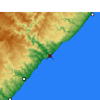 Nearby Forecast Locations - Port St. Johns - Χάρτης
