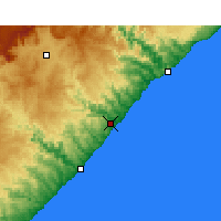 Nearby Forecast Locations - Coffee Bay - Χάρτης