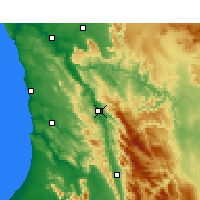 Nearby Forecast Locations - Clanwilliam - Χάρτης