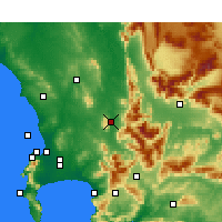 Nearby Forecast Locations - Paarl - Χάρτης