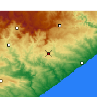 Nearby Forecast Locations - Bhisho - Χάρτης