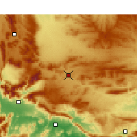 Nearby Forecast Locations - Touws River - Χάρτης