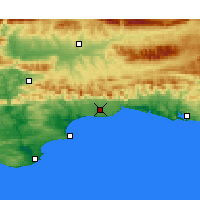 Nearby Forecast Locations - George - Χάρτης