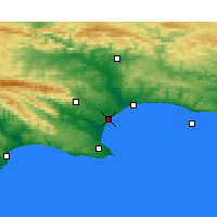Nearby Forecast Locations - Port of Ngqura - Χάρτης