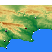 Nearby Forecast Locations - Uitenhage - Χάρτης