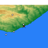 Nearby Forecast Locations - Port Alfred - Χάρτης