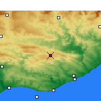 Nearby Forecast Locations - Grahamstown - Χάρτης