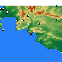 Nearby Forecast Locations - Hermanus - Χάρτης