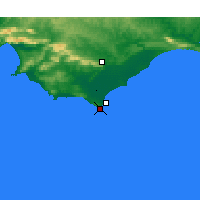 Nearby Forecast Locations - Cape Agulhas - Χάρτης