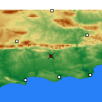 Nearby Forecast Locations - Riversdale - Χάρτης