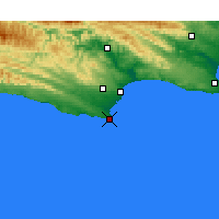 Nearby Forecast Locations - St Francis Bay - Χάρτης