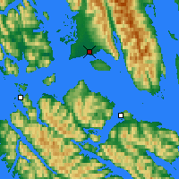 Nearby Forecast Locations - Gustavus - Χάρτης