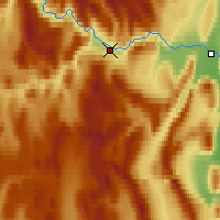 Nearby Forecast Locations - Deadman Valley - Χάρτης