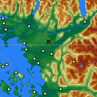 Nearby Forecast Locations - Abbotsford - Χάρτης