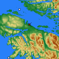 Nearby Forecast Locations - Port Hardy - Χάρτης