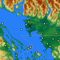 Nearby Forecast Locations - Richmond - Χάρτης