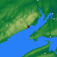 Nearby Forecast Locations - Fundy Park Cs - Χάρτης