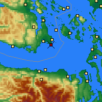 Nearby Forecast Locations - Victoria CS - Χάρτης